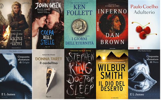 I libri pi venduti del 2014 sono romanzi da leggere for Libri da leggere